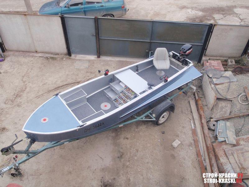 Покраска лодки своими руками фото
