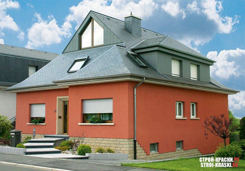 Красивая покраска фасада дома фото